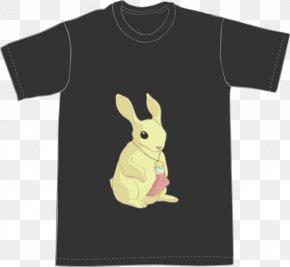 T-shirt - T-shirt Black Sleeve Font PNG