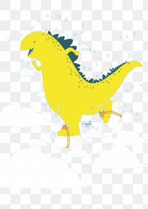 Happy Dinosaur - Dinosaur Cloud Euclidean Vector PNG