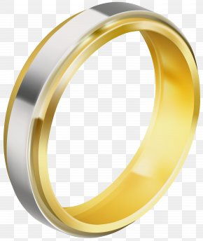 Silver And Gold Wedding Ring Clip Art Image - Image File Formats Lossless Compression PNG