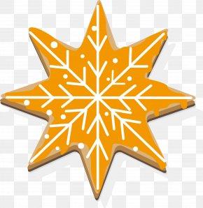 Yellow Snowflake Cookies - Biscuit Rose De Reims Cookie Snowflake PNG