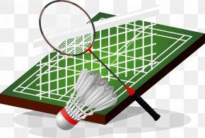 Badminton - Badmintonracket Shuttlecock PNG