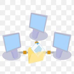 ModernXP 59 Network Shared Folder - Blue Communication Material Yellow PNG