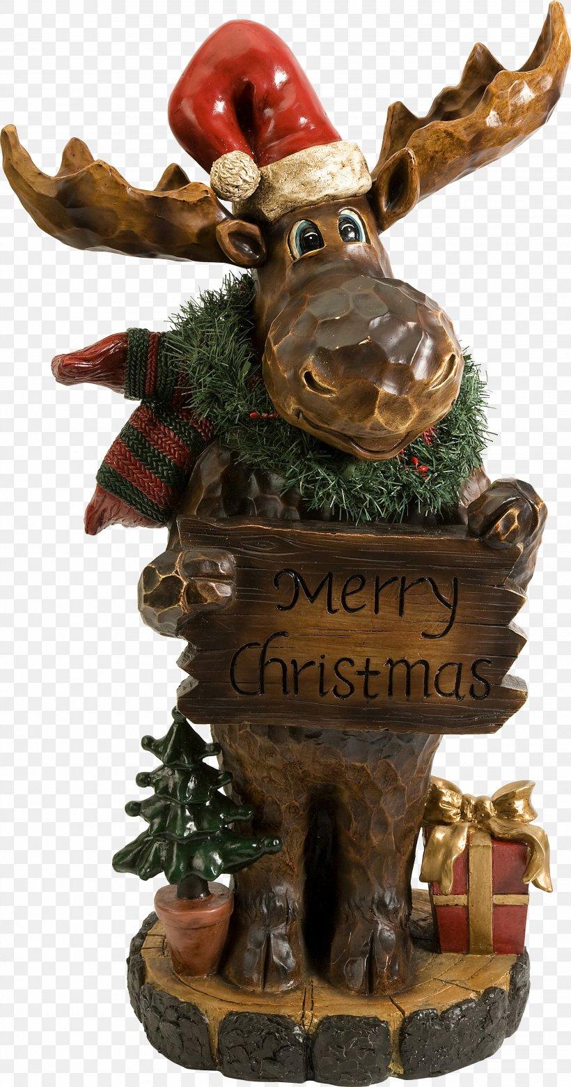 Merry Christmas Sculpture Antler Holiday Decor