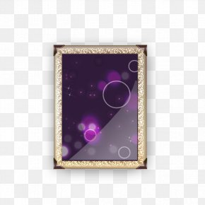 Gold Frame Picture Frame - Gold PNG