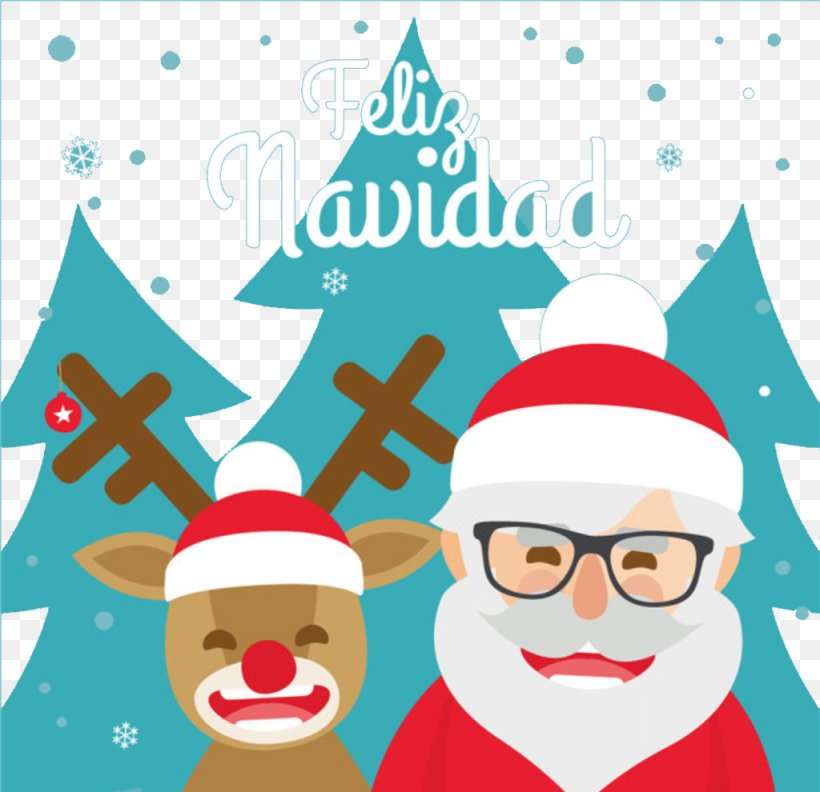 Rudolph Santa Claus Christmas Illustration, PNG, 1024x990px, Rudolph, Area, Art, Christmas, Christmas Card Download Free