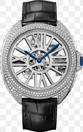 Automatic Watch - Automatic Watch Cartier Skeleton Watch Jewellery PNG