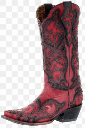Boot - Cowboy Boot Fashion Boot Shoe Red PNG