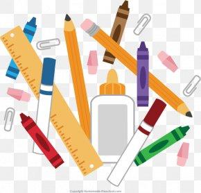 Transparent Material - School Supplies Clip Art PNG