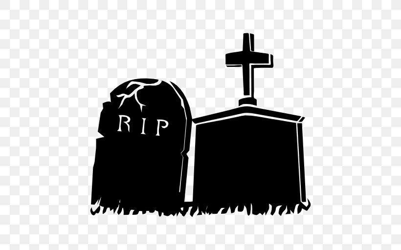 Cemetery Headstone Download, PNG, 512x512px, Cemetery, Black, Black And White, Brand, Death Download Free