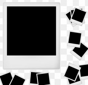 Black And White Frame - Instant Camera Picture Frame PNG