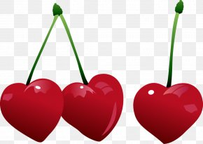 Red Heart-shaped Elements - Cherry Heart Stock Illustration Clip Art PNG