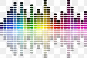 Modern Colorful Waves Vector - Sound Loudness PNG