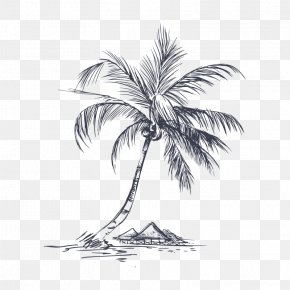 Coconut Tree,Hand Painted - Coconut Tree Pixel PNG
