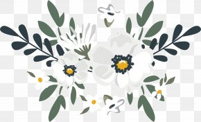 Vector Hand-painted Watercolor Flowers - Floral Design Watercolor Painting Flower PNG