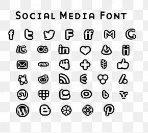 Phone Social Media - Social Media Font PNG