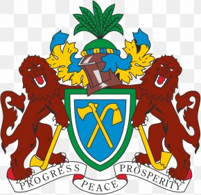 Senegal Flag - Coat Of Arms Of The Gambia National Coat Of Arms Flag Of The Gambia PNG