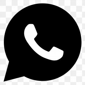 Black And White - WhatsApp Mobile Phones Logo Clip Art PNG