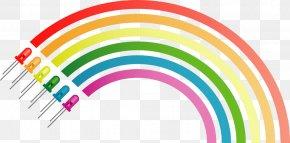 Rainbow - Light-emitting Diode LED Lamp Clip Art PNG