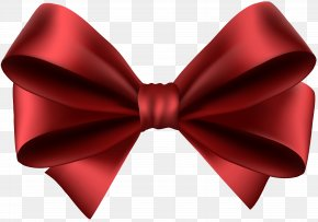 Red Bow Transparent Clip Art - Red Clip Art PNG
