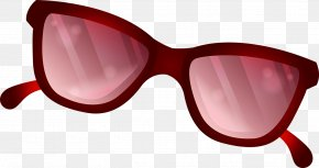 Sunglasses - Sunglasses Red Drawing PNG
