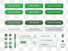 Green Buttons UI Kit - Graphical User Interface User Interface Design Icon PNG