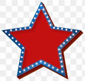 Star With Lights Transparent Clip Art Image - Light Clip Art PNG