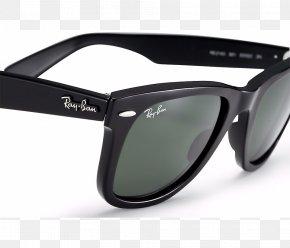 Black Sunglasses - Ray-Ban Wayfarer Aviator Sunglasses Clothing Accessories PNG