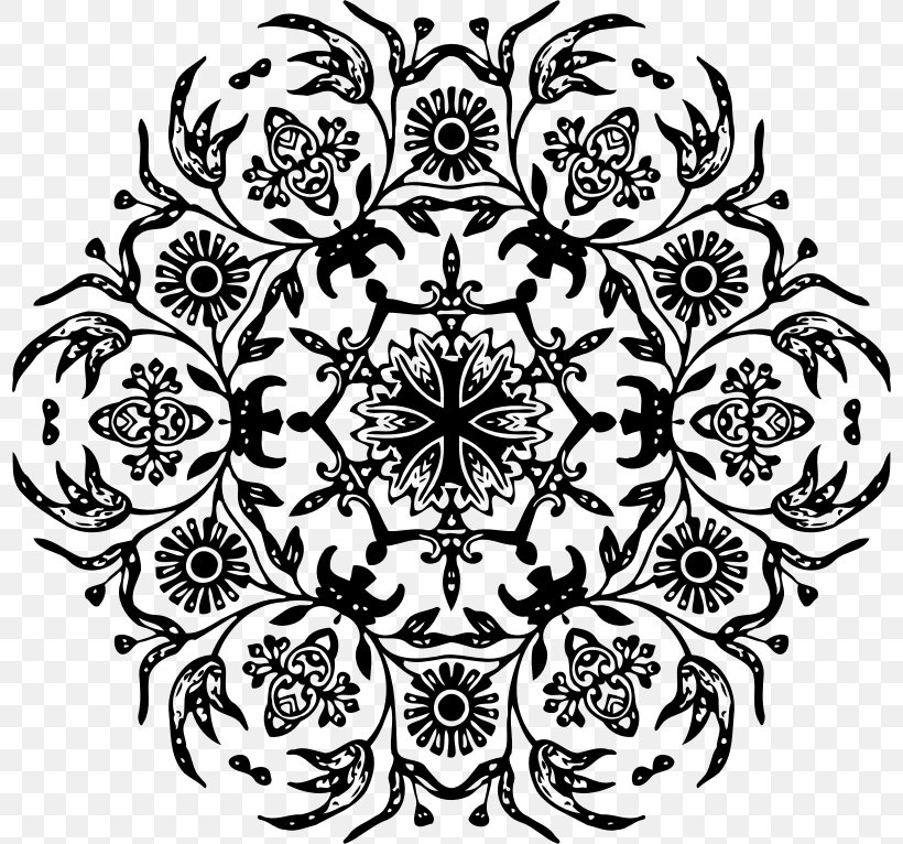 Flower Floral Design Clip Art, PNG, 798x766px, Flower, Area, Art, Black And White, Drawing Download Free