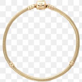 Bracelet - Earring Pandora Gold Charm Bracelet PNG