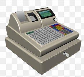 Vintage Grey Small Screen Cash Register - Cash Register Machine PNG