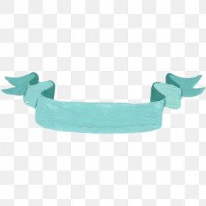 Hand Painted Blue Ribbon Material - Ribbon PNG