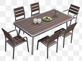 Square Concrete Dining Table - Table Chair Furniture Dining Room Wicker PNG