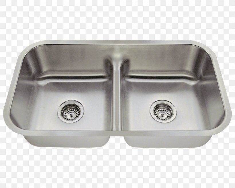 Kitchen Sink Stainless Steel Tap, PNG, 1000x800px, Sink, Bathroom Sink, Bowl, Brushed Metal, Cabinetry Download Free