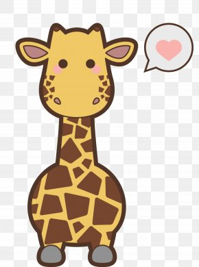 Creative Hand-painted Giraffe - Safari Animal Kavaii Icon PNG