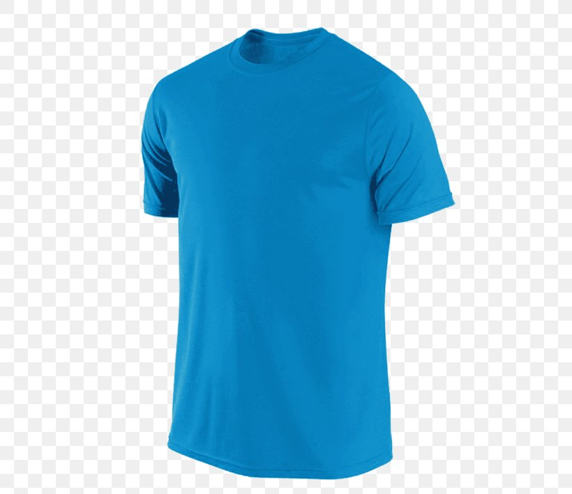 T-shirt Sleeve Clothing Crew Neck, PNG, 709x709px, Tshirt, Active Shirt, Aqua, Azure, Blue Download Free