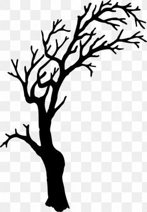 Spooky Cliparts - Tree Silhouette Branch Clip Art PNG