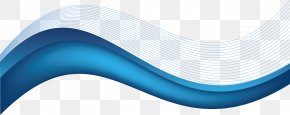 Vector Cartoon Blue Background With Wavy Lines - Brand Blue PNG