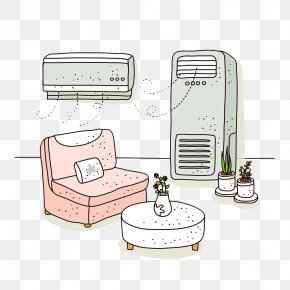 Hand-painted Air Conditioning Wind - Air Conditioner Air Conditioning Illustration PNG