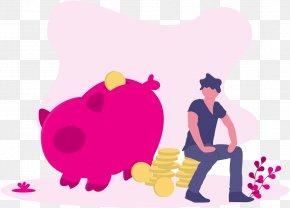 Heart Love - Cartoon Pink Clip Art Love Heart PNG