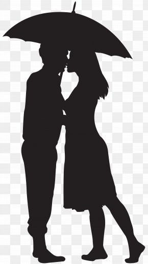 Loving Couple Silhouette Clip Art Image - Silhouette Couple PNG