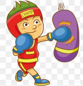 Boxing Victory - Boxing Vector Graphics Clip Art Image PNG
