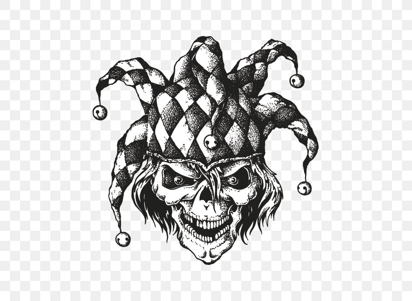 Joker Vector Graphics Drawing Illustration Clown Png 600x600px Joker Art Black And White Bone Cap And