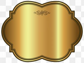 Golden Luxury Label Template Clipart Image - Template Clip Art PNG