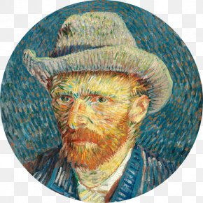 Van Gogh Museum - Van Gogh Museum Van Gogh Self-portrait Self-Portrait With Grey Felt Hat Self-Portrait With A Straw Hat The Starry Night PNG