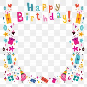 Happy Birthday Poster Background Shading - Birthday Greeting Card Clip Art PNG
