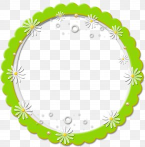Round Green Frame With Flowers - Palm Springs Coachella Valley The Desert Sun Birthday Palm Desert PNG