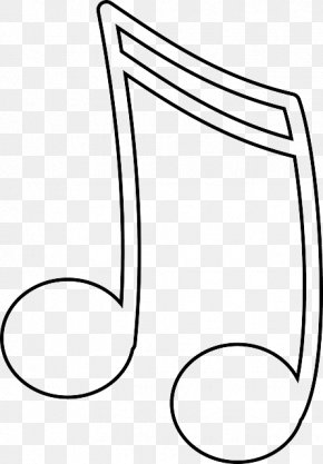 Eighth Note Outline - Musical Note Sixteenth Note Eighth Note Clip Art PNG