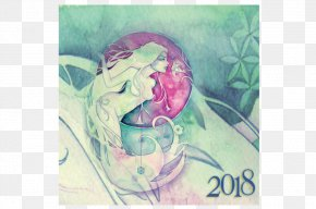 Beautify The Soul With Civilization - Painting Lunar Calendar January 2018 Lunar Eclipse Moon PNG