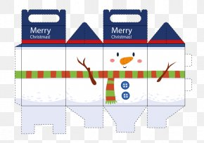 Vector Snowman Box - Paper Santa Claus Christmas Gift Box PNG