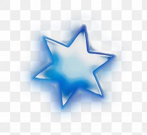 Electric Blue Star - Blue Star PNG
